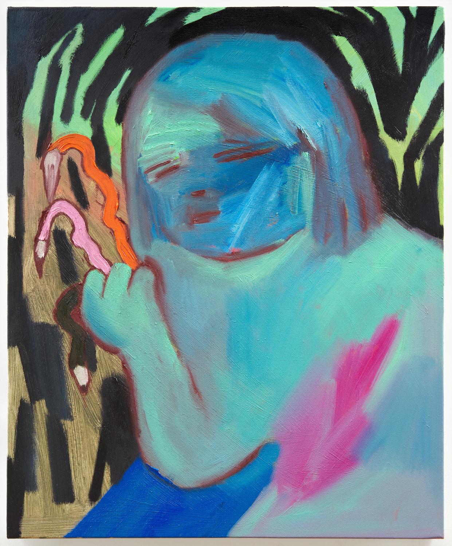어느 날 밤에, 60.6x50(cm), Oil on canvas, 2019