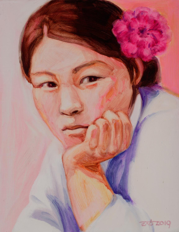 최은희, 41x31.8cm, oil on canvas, 2019